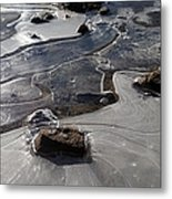 Ice Snakes Metal Print