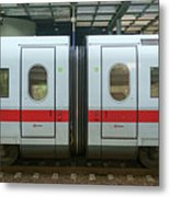 Ice Train At Berlin Station Metal Print
