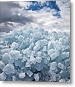 Ice Wall Metal Print