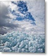 Ice Wall II Metal Print