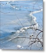 Ice Waves Metal Print