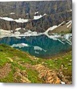 Iceberg Lake Glacier Metal Print
