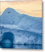 Iceberg On The Jokulsarlon Glacial Metal Print