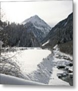 Iced River Metal Print