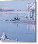 Icefjord In Greenland Metal Print