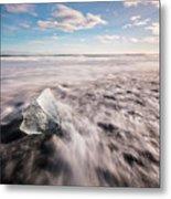 Iceland And Glaciers Metal Print