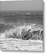 Iceland Black Sand Beach Wave One  Metal Print