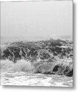 Iceland Black Sand Beach Wave Three Metal Print