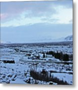 Iceland Country Side Clouds Mountains Stream Iceland Rocks Lake Clouds Iceland 2 2112018 0971 Metal Print