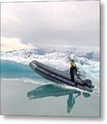 Iceland Glacier Lagoon Metal Print by Ambika Jhunjhunwala