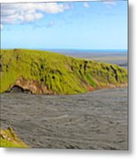 Iceland Landscape Near Vik Metal Print