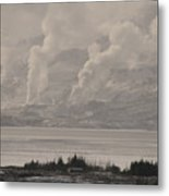 Smoke Rising Metal Print