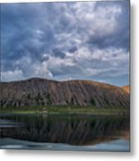 Iceland Mountain Reflections  Metal Print