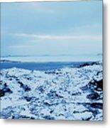 Iceland Rocks Lake Clouds Iceland 2 2112018 0935 Metal Print