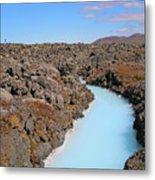 Iceland Tranquil Blue Lagoon  Metal Print