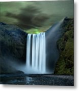 Iceland Waterfall Metal Print