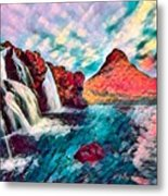 Iceland Waterfalls Metal Print