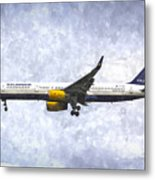 Icelandair Boeing 757 Art Metal Print