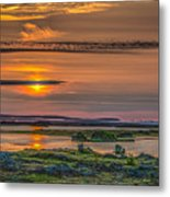 Icelandic Sunset Metal Print