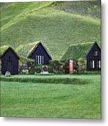 Icelandic Turf Homes Metal Print