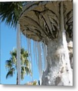 Icicles In A Palm Filled Sky Number 1 Metal Print