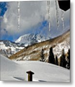 Icicles In East Vail Metal Print