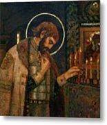 Icon Of Reverend Prince Alexander Nevsky. Saint Petersburg Metal Print