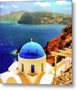 Iconic Anastaseos Oia Santorini Greece Metal Print