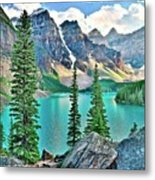 Iconic Banff National Park Attraction Metal Print