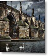 Iconic Bridge In Prague Metal Print