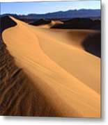 Iconic Dunes At Death Valley Metal Print