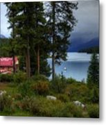 Iconic Maligne Lake And Boat House II Metal Print