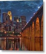 Iconic Minneapolis Stone Arch Bridge Metal Print
