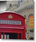 Iconic Postbox And Lyceum Theatre Metal Print