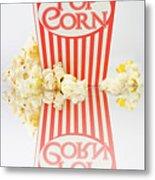 Iconic Striped Popcorn Carton Metal Print