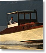 Iconic Wooden Runabout Metal Print