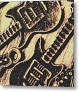 Icons Of Vintage Music Metal Print