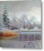 Icy Connecticut Morning Metal Print