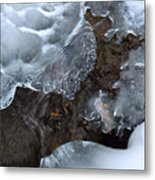 Icy Creek In Pocono Mountains Metal Print