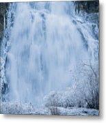 Icy Falls Metal Print