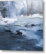 Icy Flow Metal Print