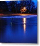 Icy Glow Metal Print