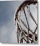 Icy Hoops Metal Print