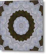 Icy Lace Kaleidoscope Metal Print