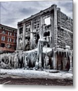 Icy Remains - After The Fire Metal Print by Jeff Swanson