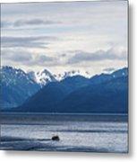 Icy Strait Fishing Metal Print