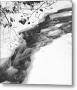Icy Swath Metal Print