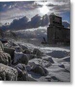 Icy Tundra In Buffalo Metal Print