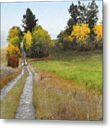 Idaho Backroad Autumn Metal Print