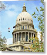 Idaho State Capitol In The Spring Metal Print